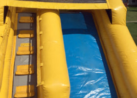 Climb and slide area of the Big Ten's inflatable slide