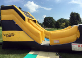 Entrance and exit for the Big Ten's inflatable slide