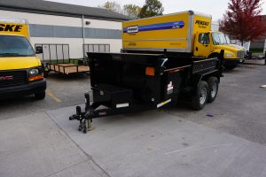 Front of 6' x 12' Tandem Axle Dump Trailer for rent [5970]