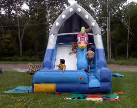 Front of the kids Shark Escape inflatable slide