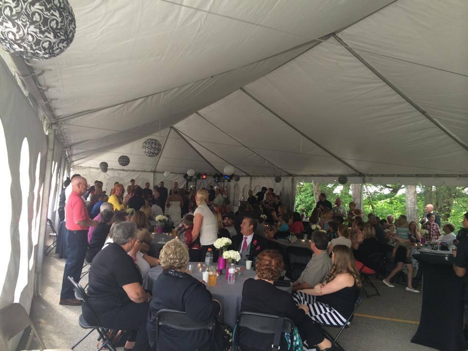 30' x 90' Frame Wedding Event Tent Rental: Iowa, IL, MO & WI