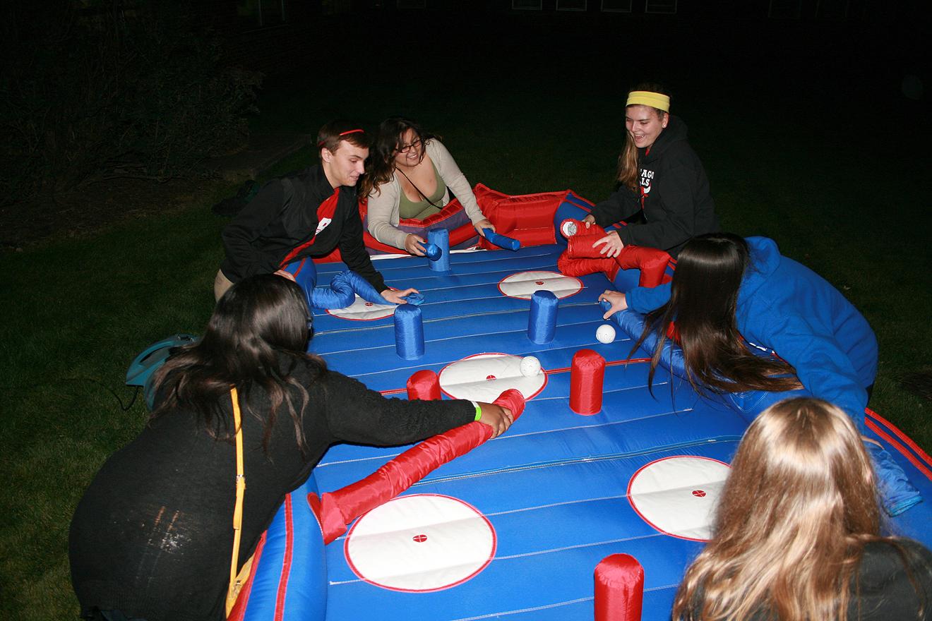 Party Rent A Hose Hockey Inflatable Game Iowa City Cr Ia