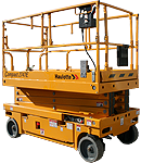 Hydraulic scissor lift with extendable table rental