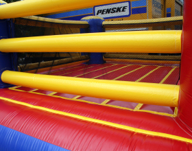 Its not canvas on this bouncy boxing ring inflatable