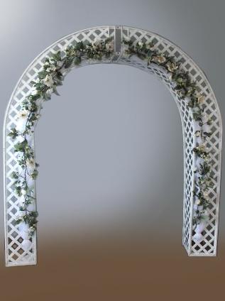 Lattice Wedding Arch Rental Ceder Rapids Iowa City