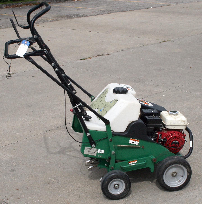 Lawn And Sod Gas Powered Aerator Rental Iowa City Cr