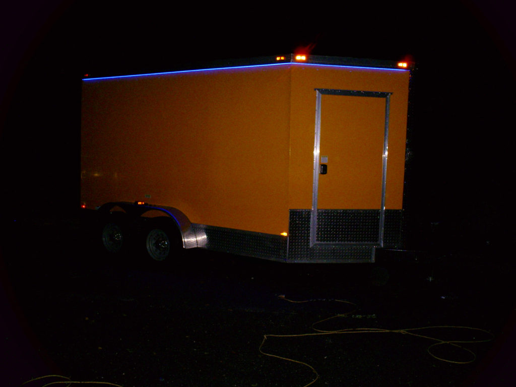 New multi beer tap trailer with blue light topper for sale