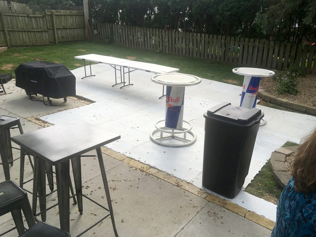 Outdoor Flooring for Backyard party sub-flooring