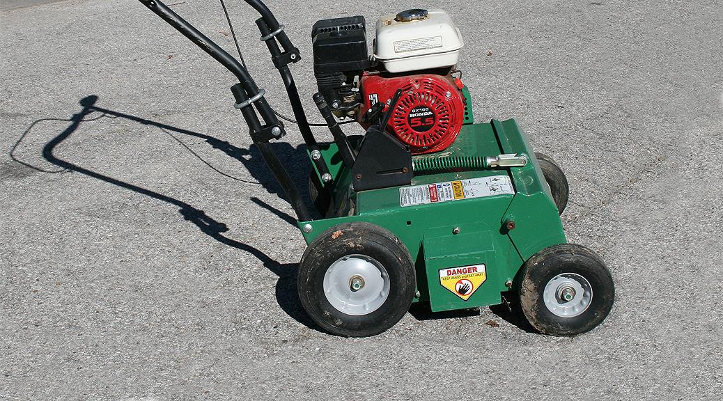 Power Rake Dethatcher rental Iowa City