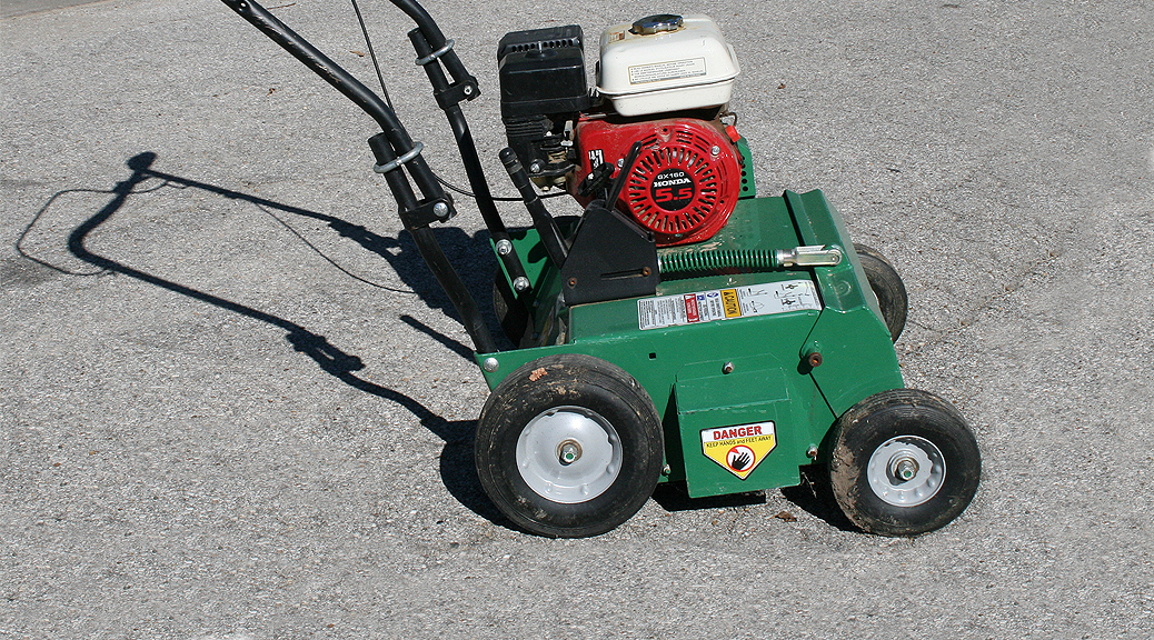 5hp power rake dethatcher rental in iowa city cr ia