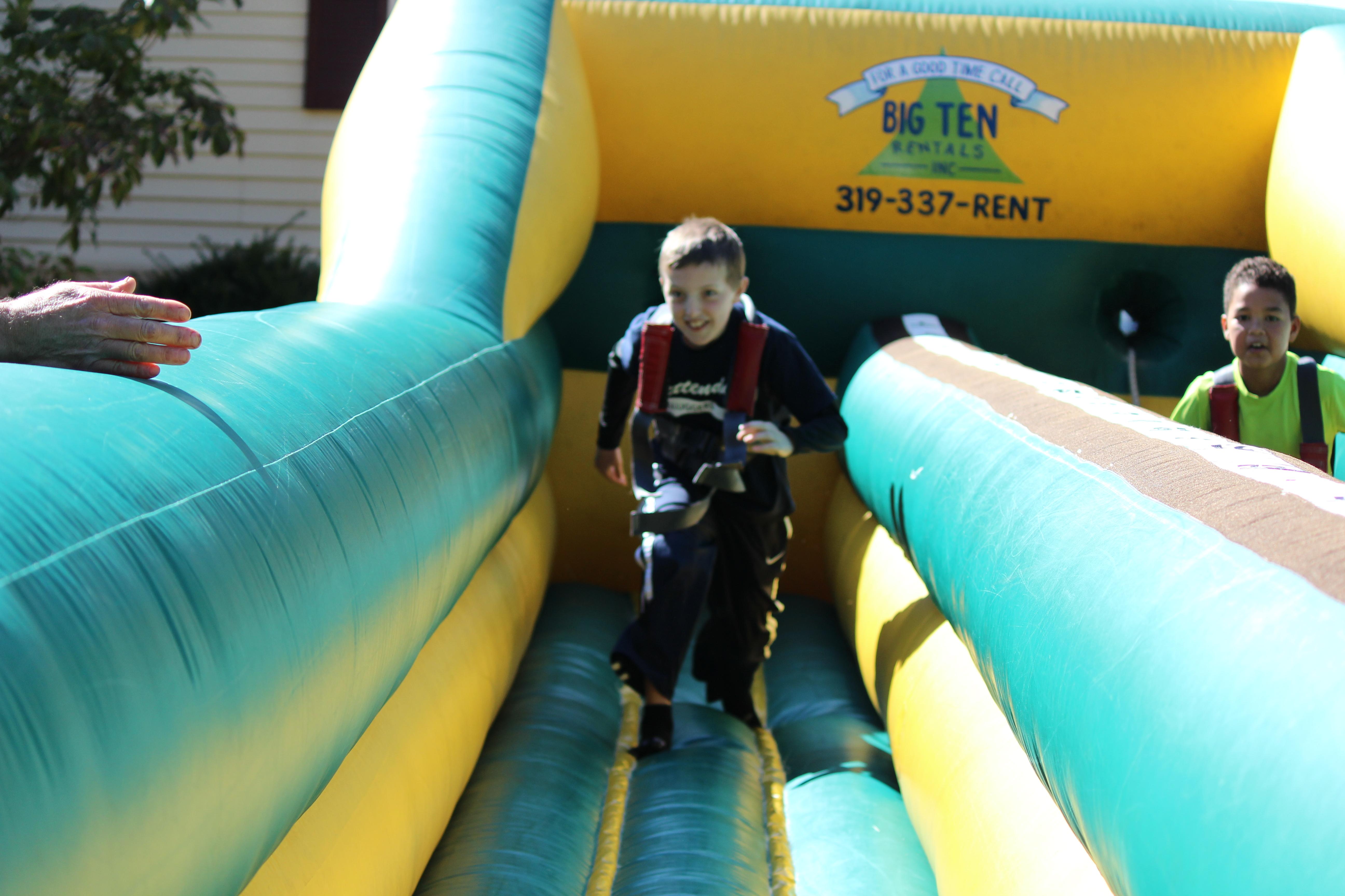 Bungee Run Challenge Inflatable Rental Iowa City Cedar