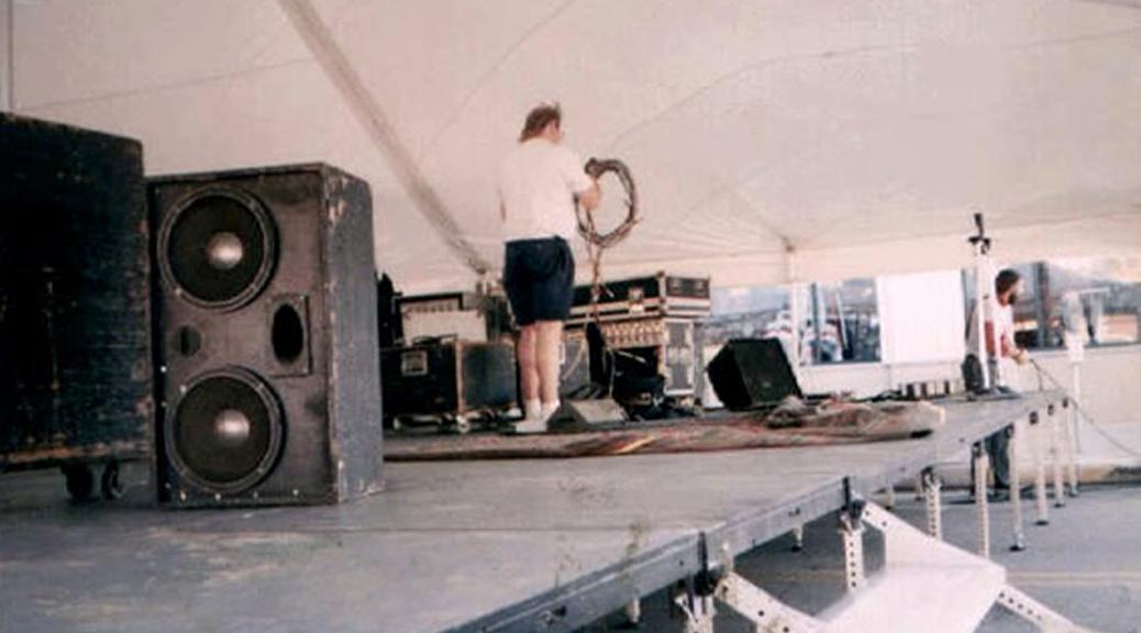 Stage Under Large Tent Rental Iowa City Cedar Rapids