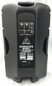 Back of the Active 1000 watt Eurolive by Behringer PA speaker system B115D