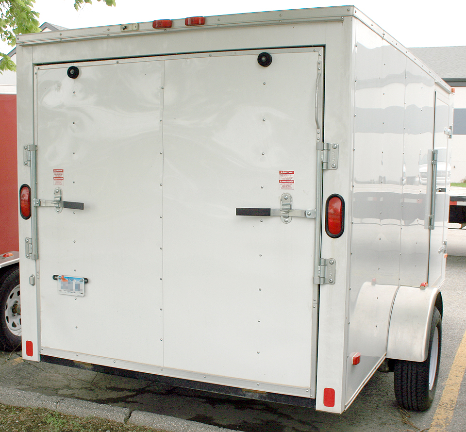 Front 6 X10 Enclosed Cargo Utility Trailer Iowa City