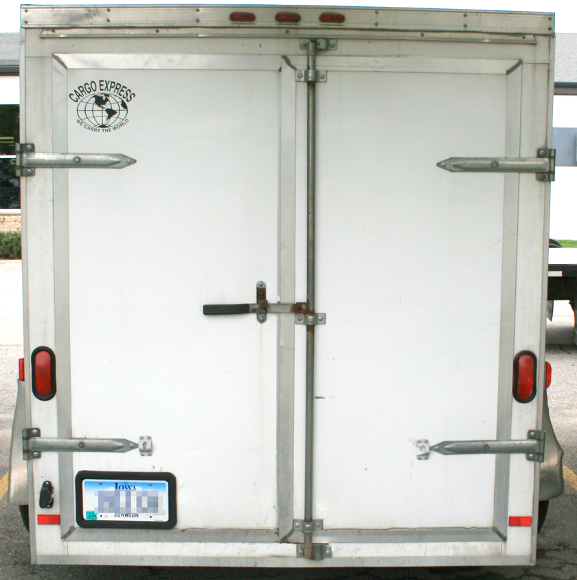 Back Of 6 X 12 Tandem Axle Enclosed Utility Cargo