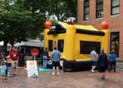 Big Ten Sports themed bounce house located at the 2014 Iowa Arts Festival.