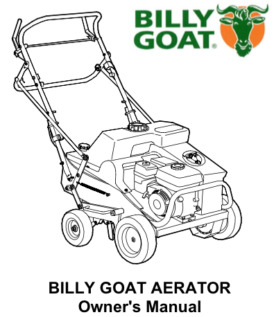 Billy Goat: aerator manual