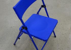 Blue children's folding chair
