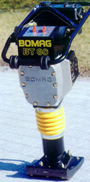 Rent our Jumping Jack compactor made by Bomag.
