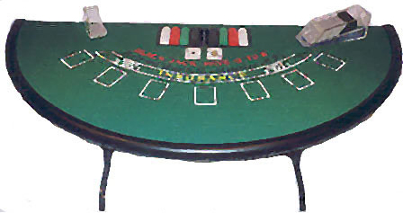 Rent our Black Jack table for your next home casino party.