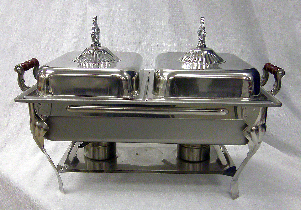Half Or Full Chafer Chafing Dish Rental Sterno Catering
