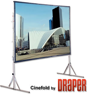 View of our Cinefold Portable projection screen.