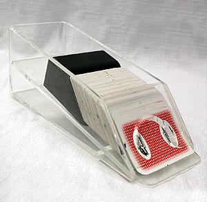 Clear card dealer shoe rental