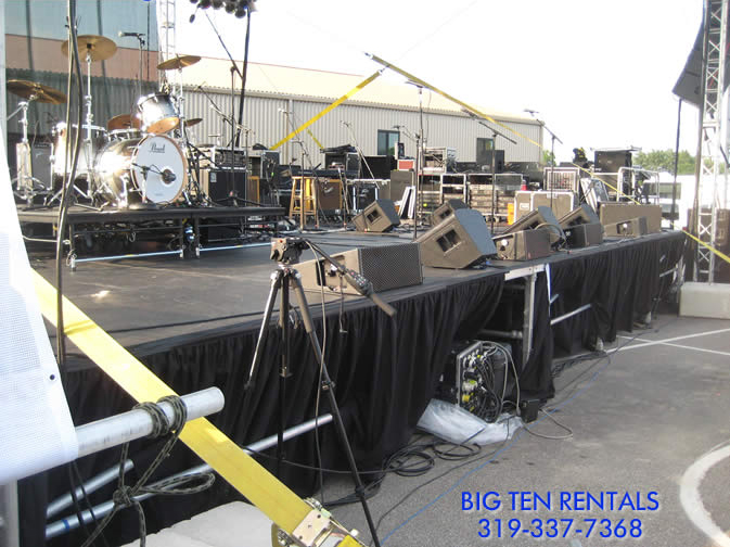 "Rent our professional grade ""Concert Stage"" for your next venue!"