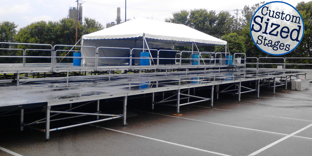 Custom sized stages rental