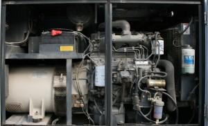 Engine of our towable diesel generator.