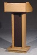 Picture of our Executive lectern here at Big Ten Rentals.