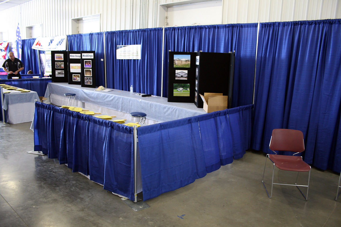 Extended Pipe And Drape Booth Rental Iowa City Cedar
