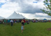 Blues & BBQ festival panoramic view