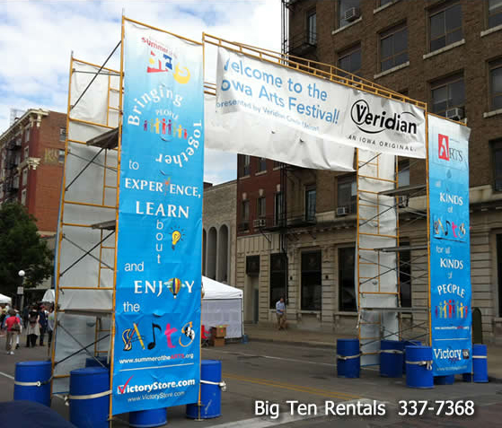 Signage Festival Entrance Race Finish Line Scaffolding Rental
