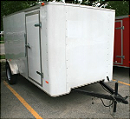 front: 6'x10' enclosed cargo utility trailer