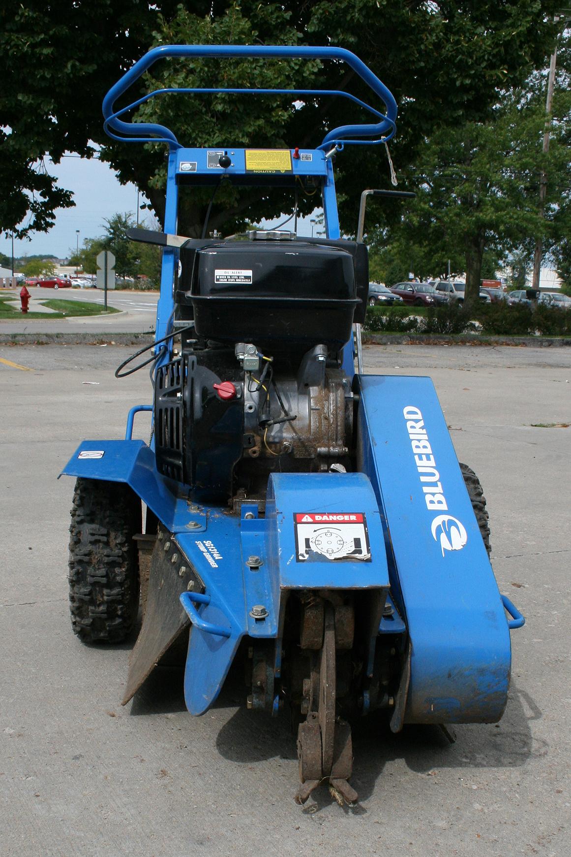 Front View Of Stump Grinder