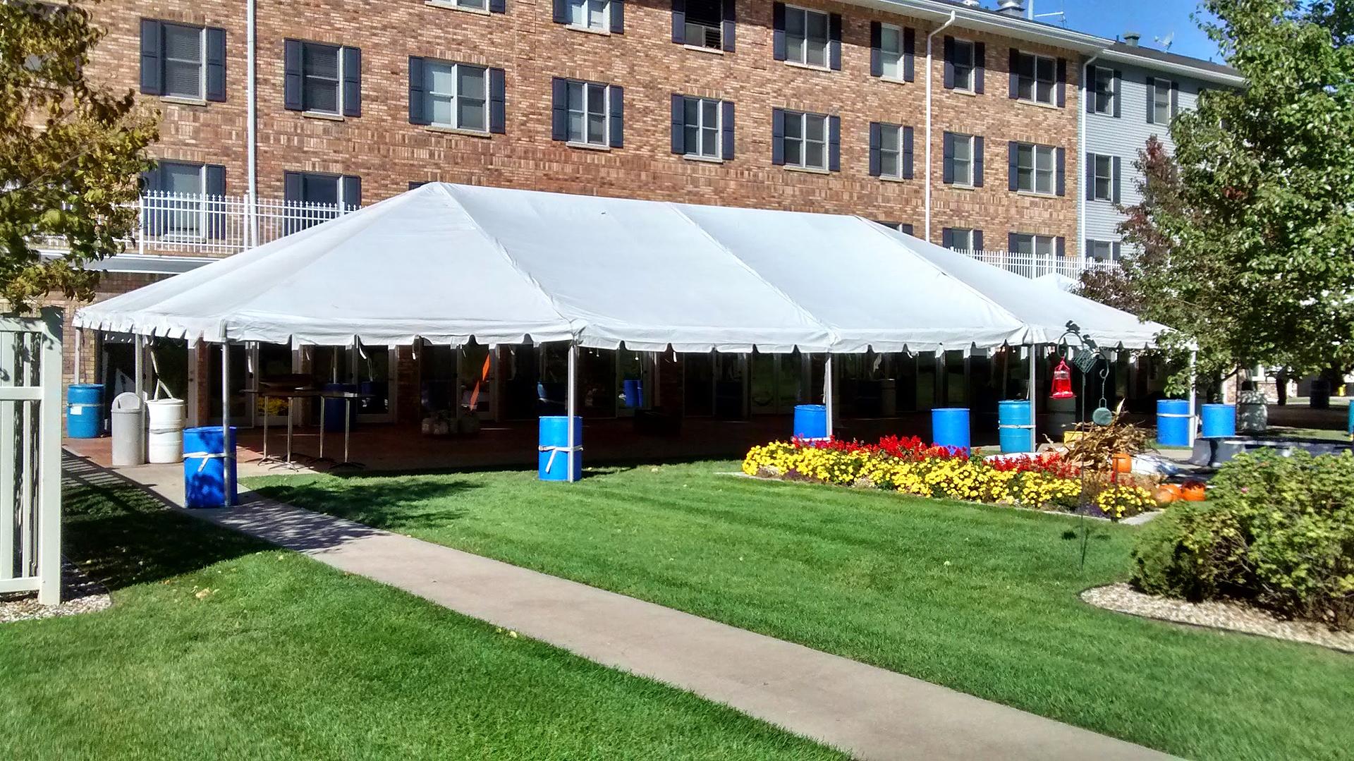 Full view of 30u2032 x 60u2032 frame tent & 30u0027x60u0027 Frame Event Tent/Temporary Structure Rental in Iowa
