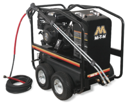 Rent our hot water gasoline powered pressure washer