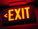 Rent our illuminated exit sign for construction jobs or events to meet code enforcement qualifications.
