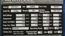 Specification on the Kwikool A/C unit model KIB6021.