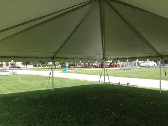 30\'x30\' Frame event tent/temp. structure rental: IA, IL, MO & WI