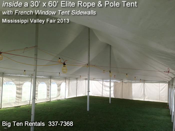 View From Inside Our 30 X 60 Elite Quot Rope And Pole Quot Event