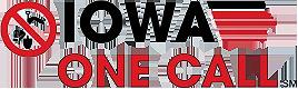 Iowa One Call logo: Call before you dig.