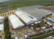 Aerial view of J & P cycles 2014 event.