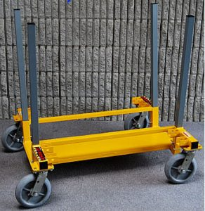 Rent our Lo Rider Drywall Cart for your next wall remodel project.