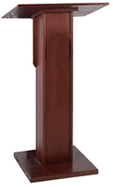 Rent our Elite lectern made of Mahogany wood.