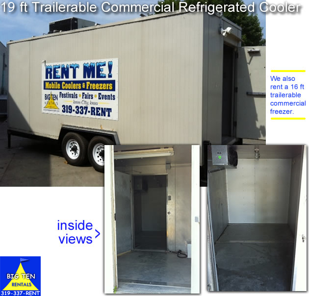 Rent our mobile commercial refrigerated trailer