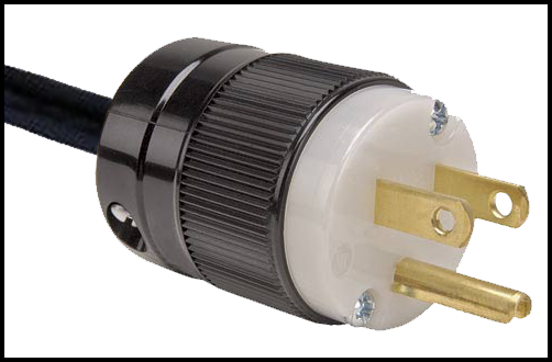 Standard North American 120 volt power plug