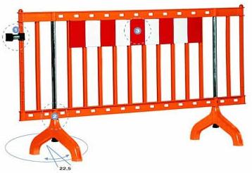 Safety orange color border/barricade fence