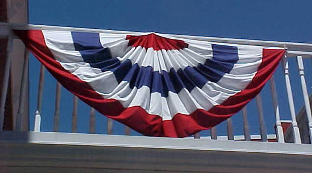 Patriotic bunting banner rental